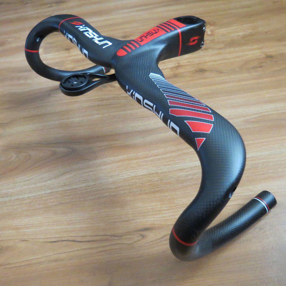 Computer Mount 3K Carbon Fiber Road Bike Handlebar Racing Bar Handlebar Stem