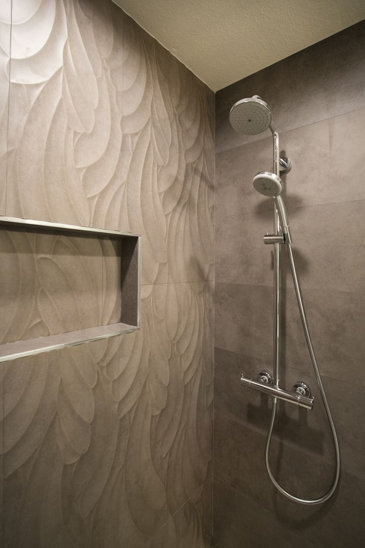 Modern Bathroom Remodeling Project Porcelanosa Tile Rhin Taupe Suede Madacascar Blanco Paradise Tiny Broken Edge Gris