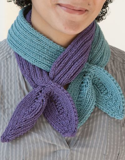 Tie scarf. Can wear one color, or two together. See pattern at http ...