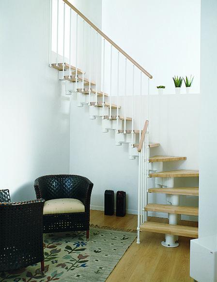 Escalera 1 4 de giro kit long l ref 13927543 leroy merlin decoracion escaleras im genes - Escaleras interiores leroy merlin ...