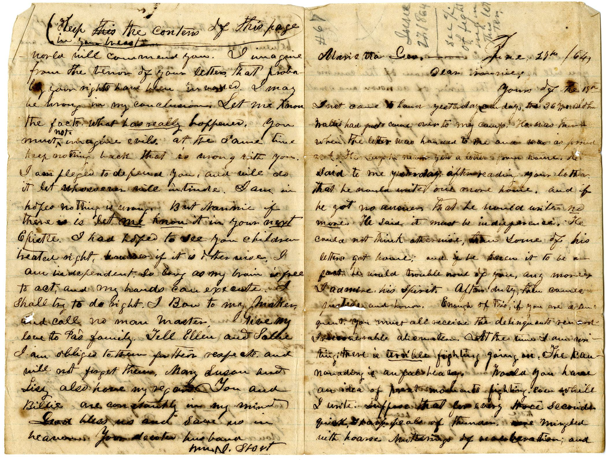Letter Provides First Hand Account Of Battle Of Kennesaw Mountain