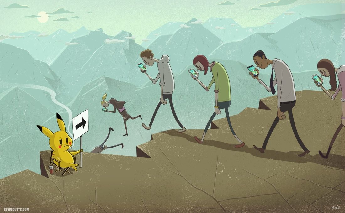 Illustration Steve Cutts Ilustraciones Satiricas Produccion