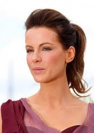 Kate Beckinsale with Loose Ponytail