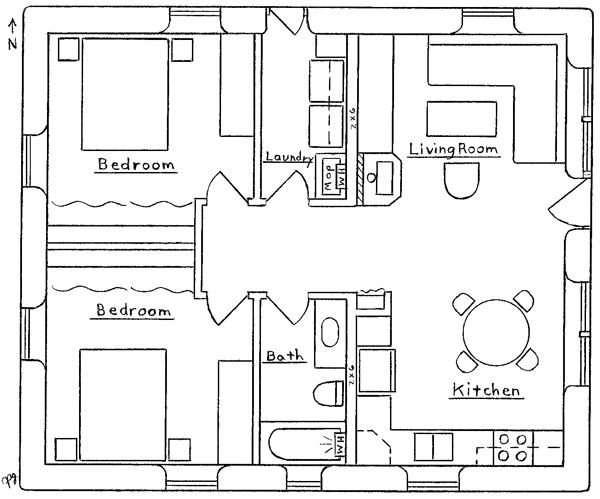 Tiny Home Designs: House Plans, Two Bedroom