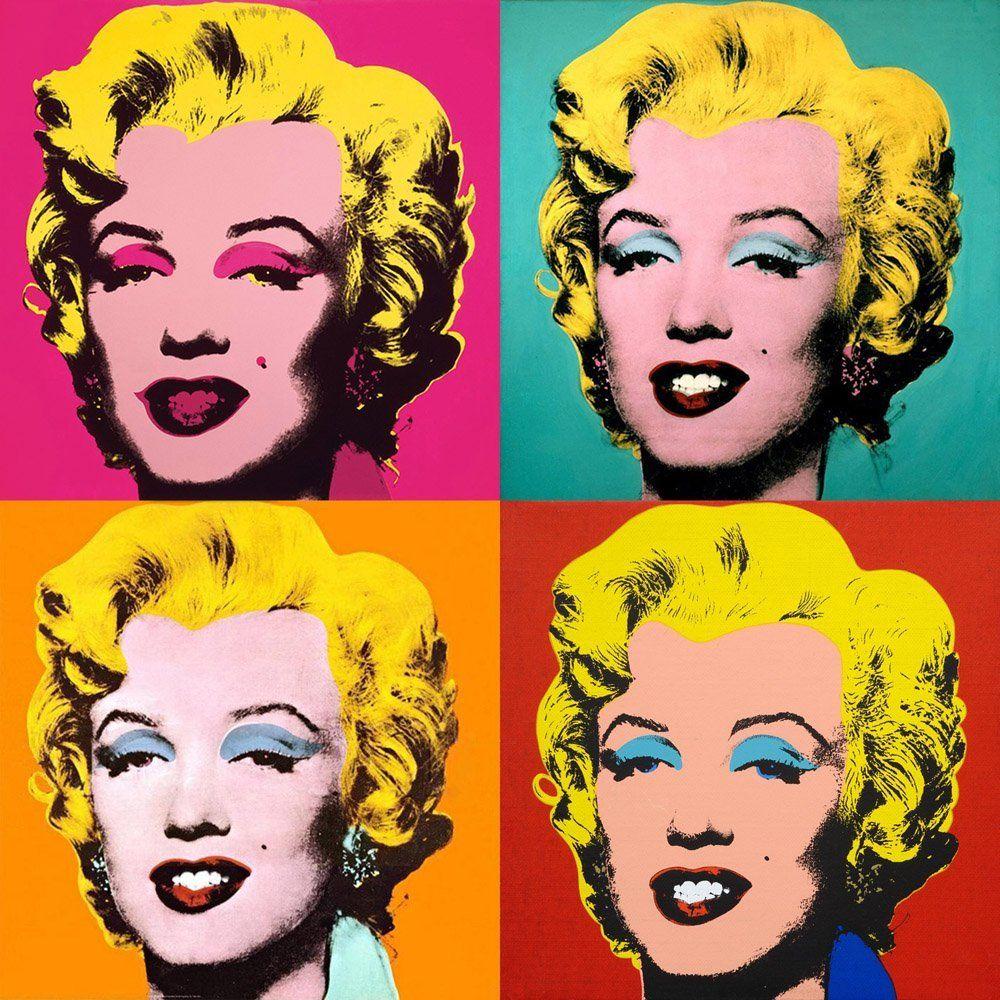Iconic Celebrities Marilyn Monroe  MULTI CANVAS WALL ART Picture Print VA
