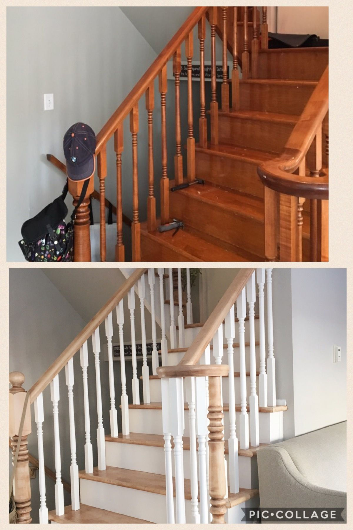 Best Maple Stairs Refinished Project 2016 Eclectic Design 400 x 300