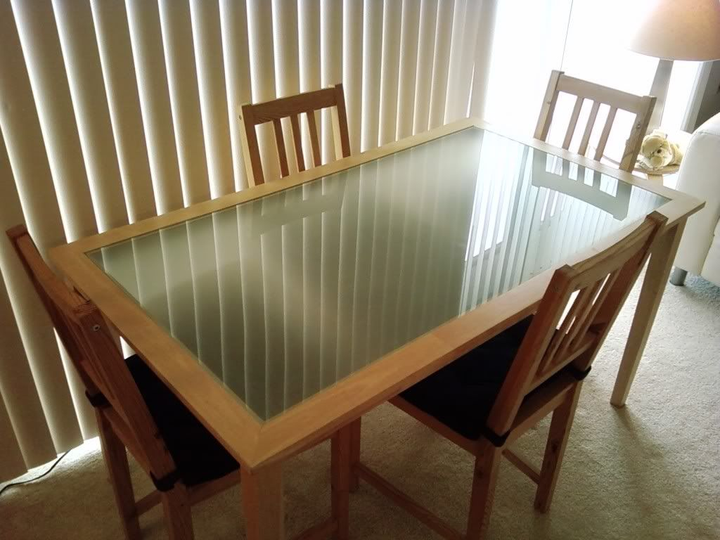 Ikea Glass Top Dining Table With Images Glass Top Dining Table