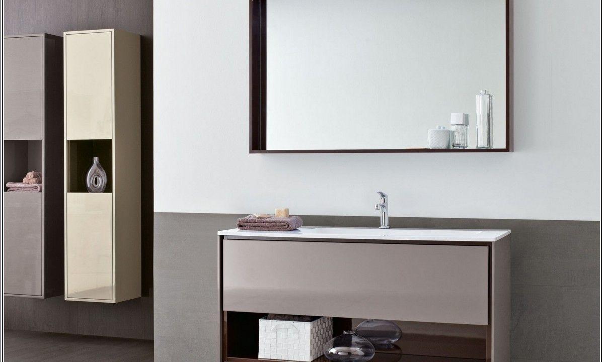 Nice Hanging Storage Minimalist Table Designs Mirror Bathroom Area ...