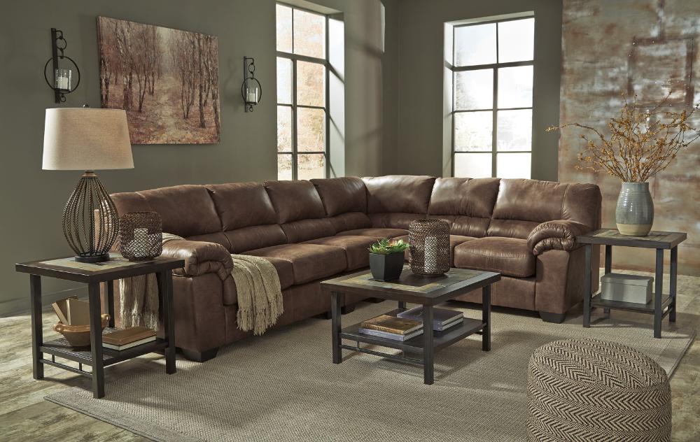Best Bladen 3 Piece Sectional Living Room Set In Coffee 400 x 300