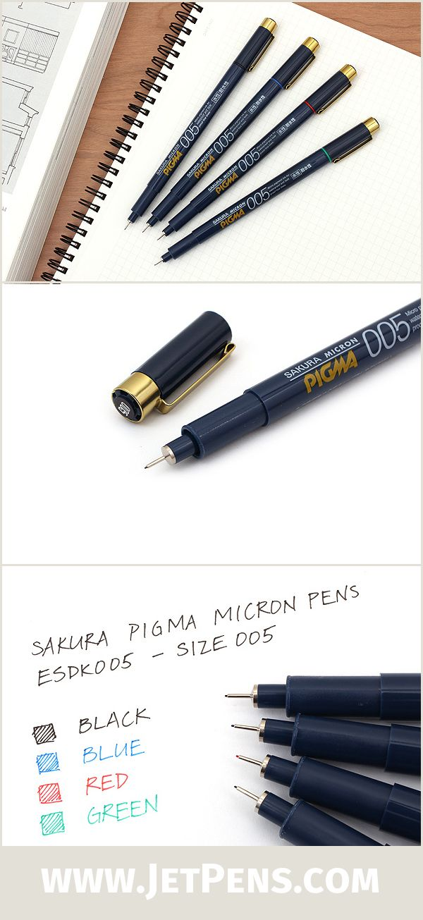 Ordinaire The Sakura Pigma Micron ESDK005 Drawing Pens Have Reliable Pigma Archival  Ink And Precision Felt Tip, In A Stylish Navy And Gold Body Design.