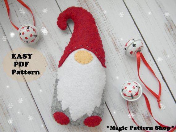 Snow Gnome Snowman Christmas Ornament Sgnome Set of Two