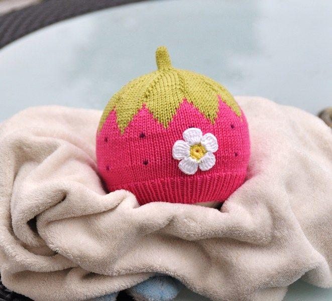 Babymütze Kindermütze Erdbeere Ku 40 Cm Von Häckelblume Auf
