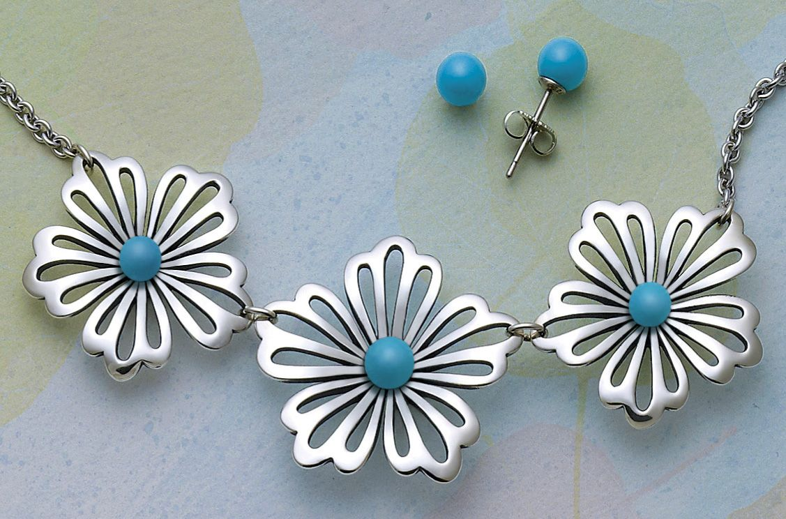 Floral Necklace With Turquoise From James Avery Jewelry