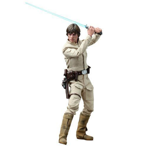 Hot Toys - Star Wars Luke Skywalker 1/6 Scale Figure MMS DX07 Bespin Outfit. Sideshow Collectibles and Hot Toys are proud to present the Star Wars : Luke Skywalker (Bespin Outfit) Sixth Scale Collectible Figure. The movie-accurate collectible features two collectible figures per set, highlighting newly developed head sculpts with movable eyes, two figure bodies, two costume styles and highly detailed weapons, accessories and a light-up Weathervane figure base.