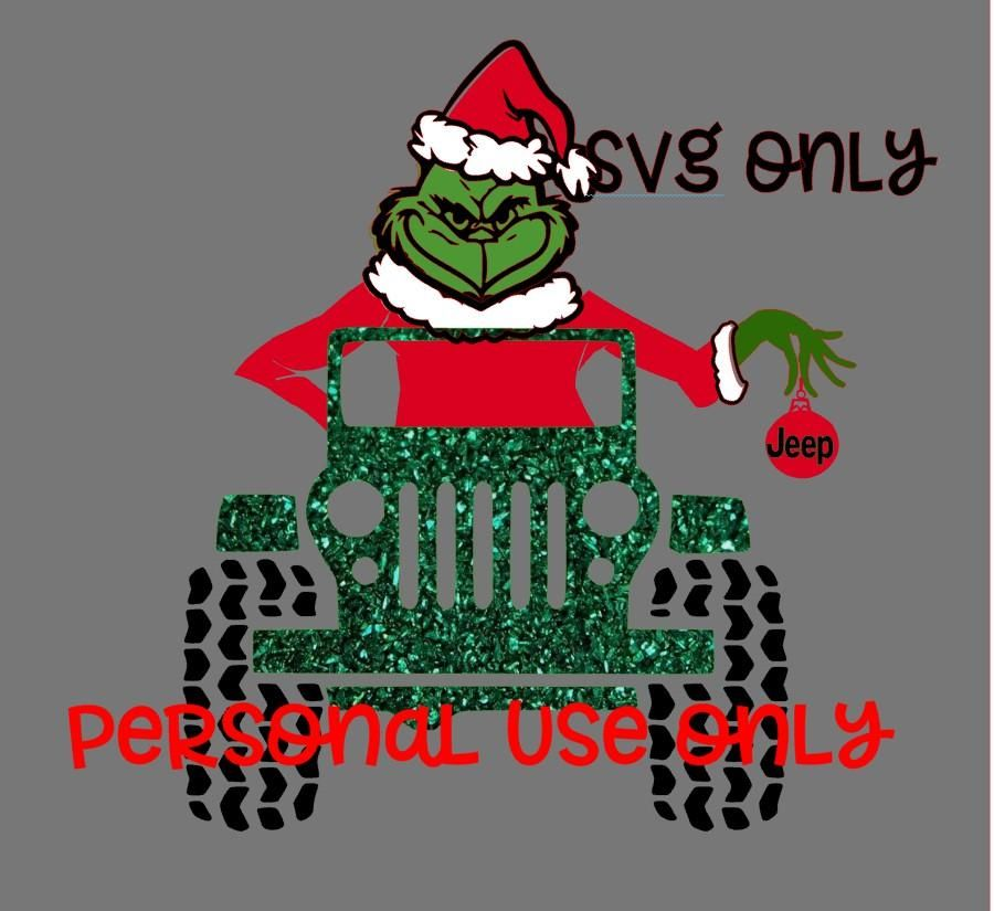 Christmas Jeep Silhouette.Mean One Personal Use Only Christmas Grinch Cricut