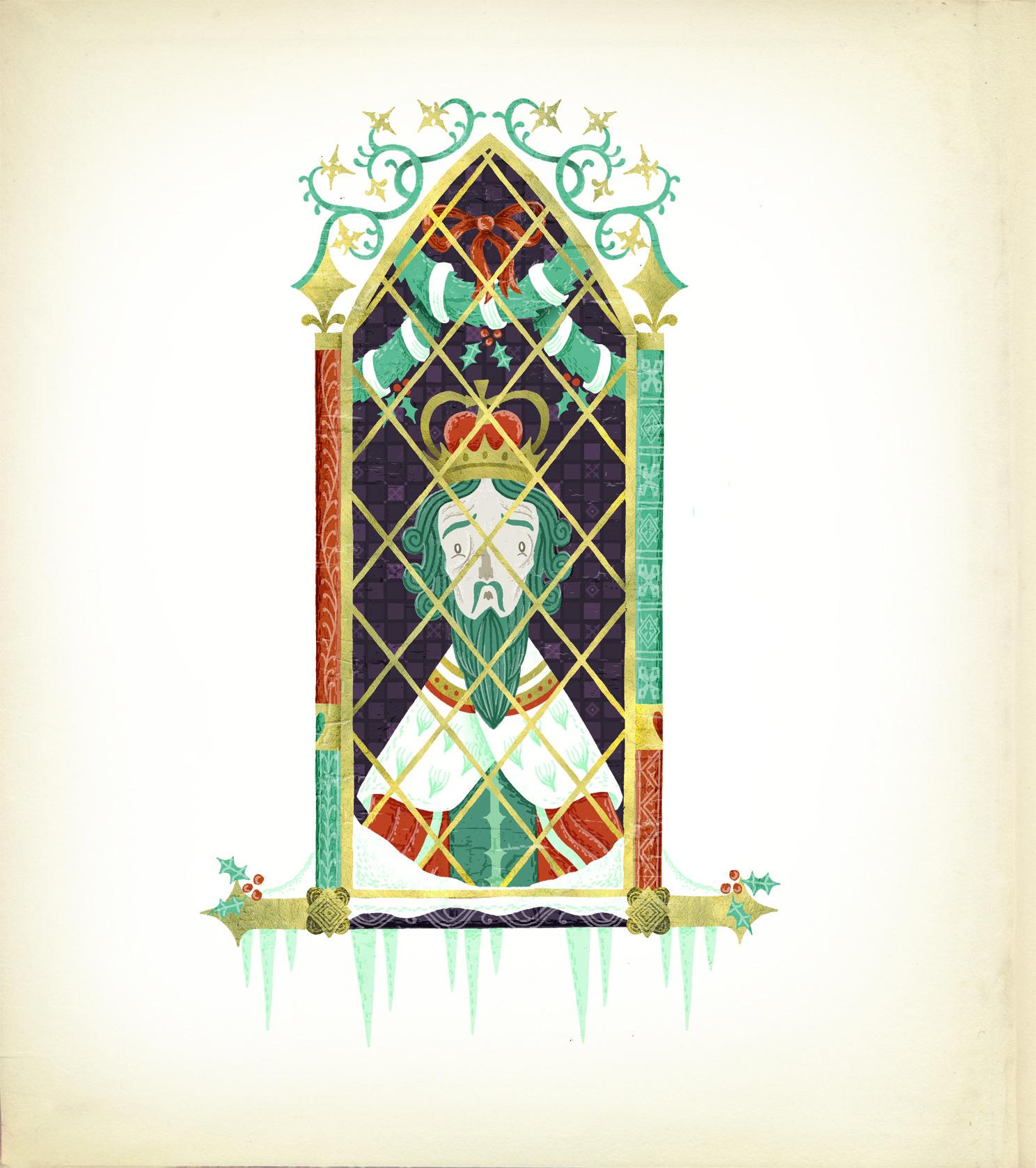 Good King Wenceslas At His Window In Stuart Kolakovics