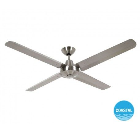 Airfusion Marine 142cm Fan In Marine Grade Stainless Steel Ceiling Fan Ceiling Fan With Light Shop Ceiling Fans
