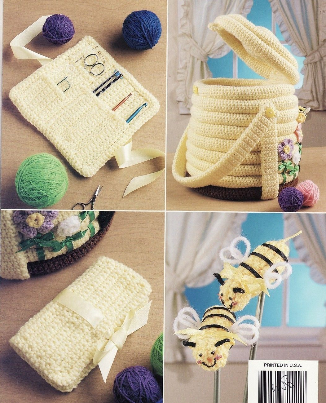 Beehive Craft Caddy Crochet Patterns Book Annies Attic - Mixed ...