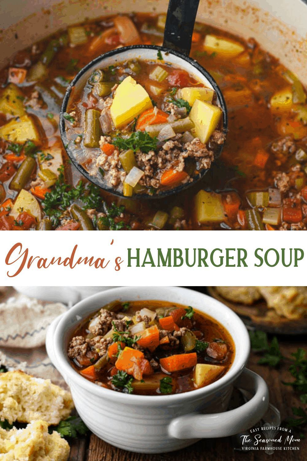 Grandmother S Hamburger Soup Recipe Hamburger Soup Best Hamburger Soup Recipe Dog Soup Recipe