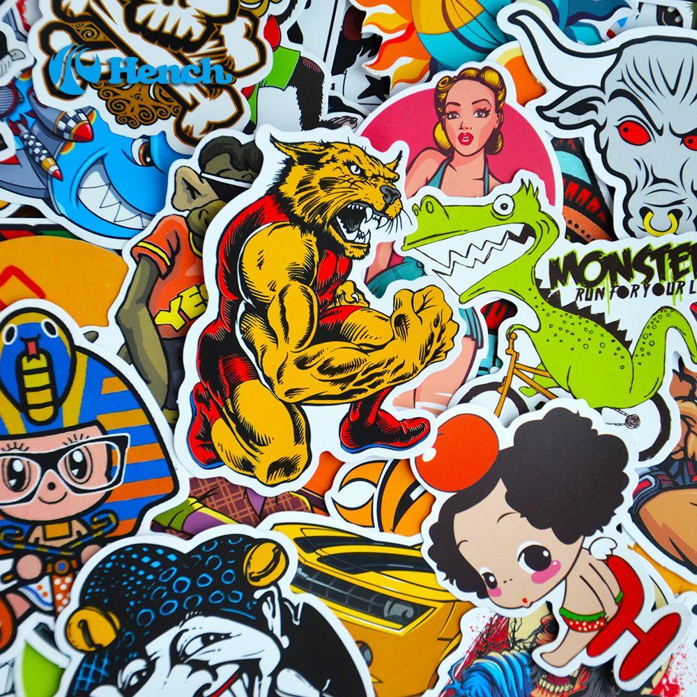 Auto Styling Doodle Sticker Bomb Graffiti Skateboard Stickers Snowboard Motorfiets Fiets bagage Tassen Accessoires Gitaar Decal