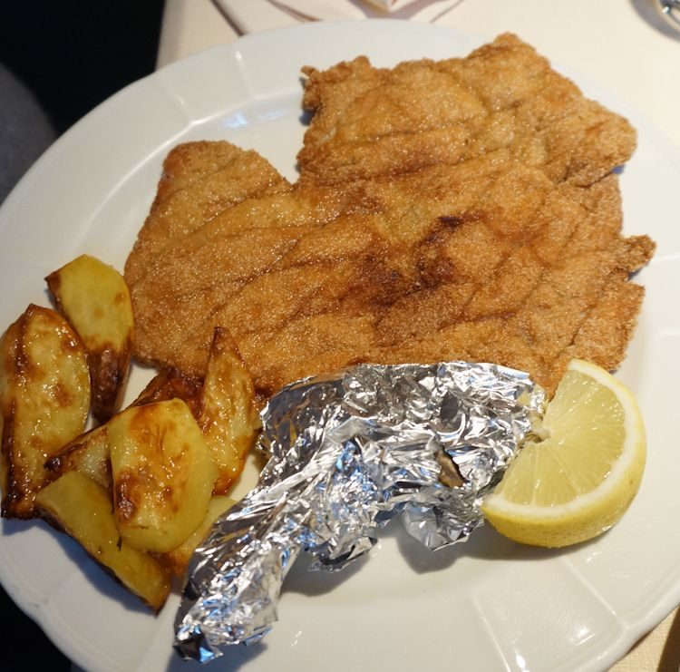 Cotoletta alla Milanese - one of Milan's most famous dishes from my fav restaurant in Milan.  They also have a full gluten free menu!