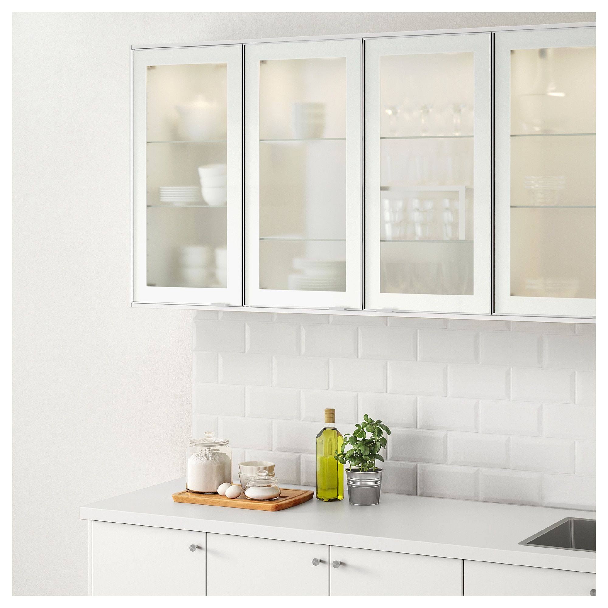 Jutis Glass Door Frosted Glass Aluminum 18x30 Glass Kitchen