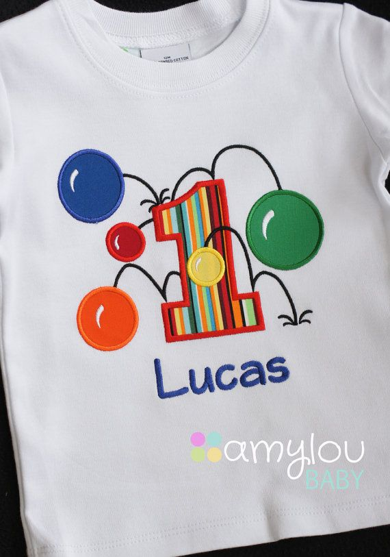 Boys First Birthday Bouncy Balls Shirt Personalized Boys First Birthday Shirt Bouncy Ball Shirt
