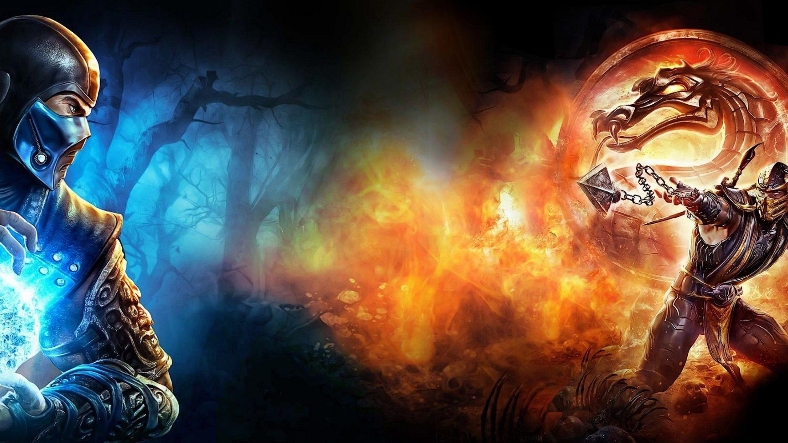 Games Subzero Mortal Kombat Wallpaper 2560x1440PX