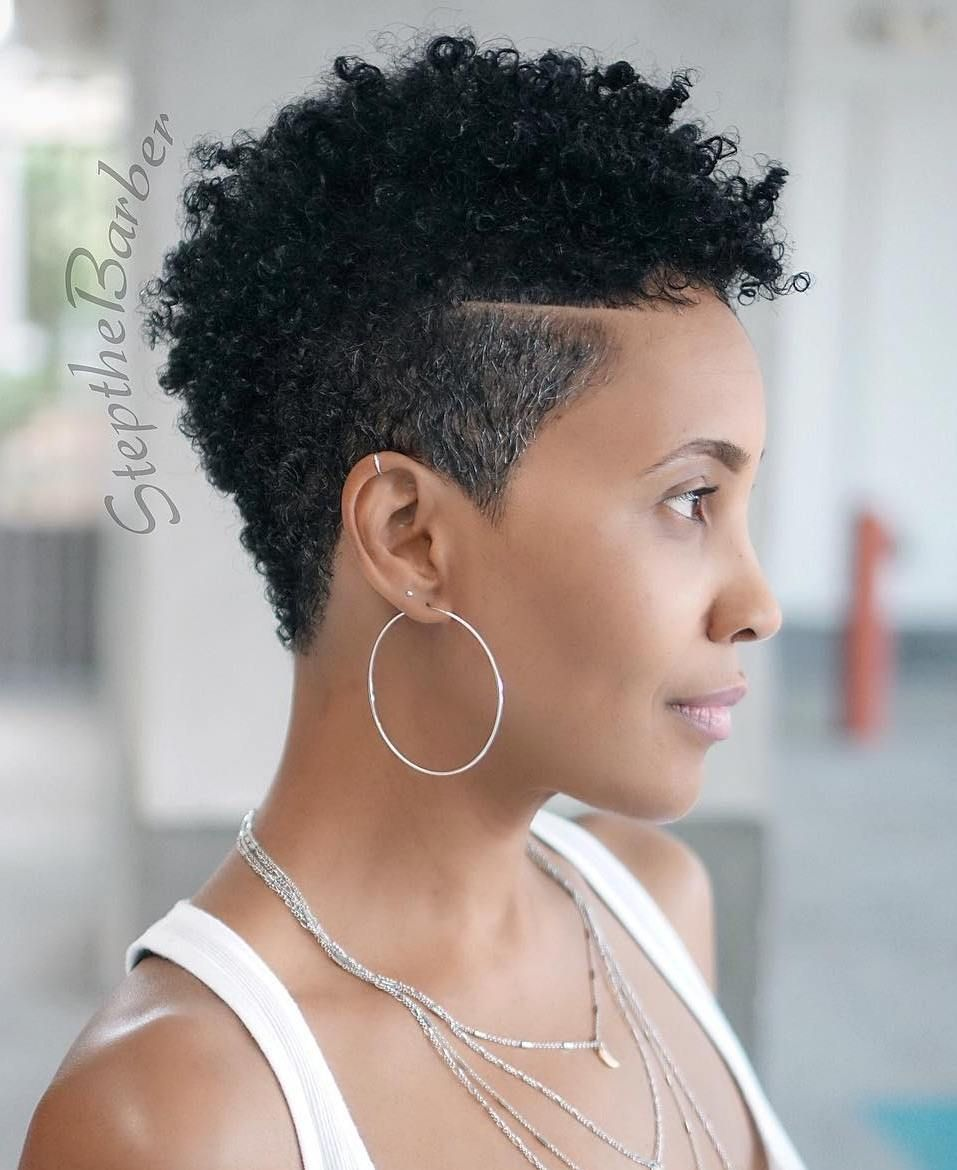 60 Great Short Hairstyles For Black Women Natural Hair Styles Tapered Natural Hair Fade Haircut Women