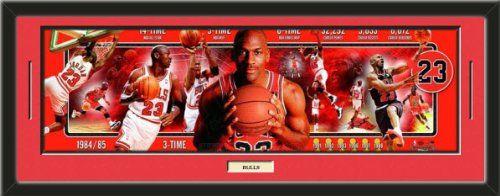 NBA Michael Jordan Chicago Bulls 8x10 Composite Photo in Sports Frame