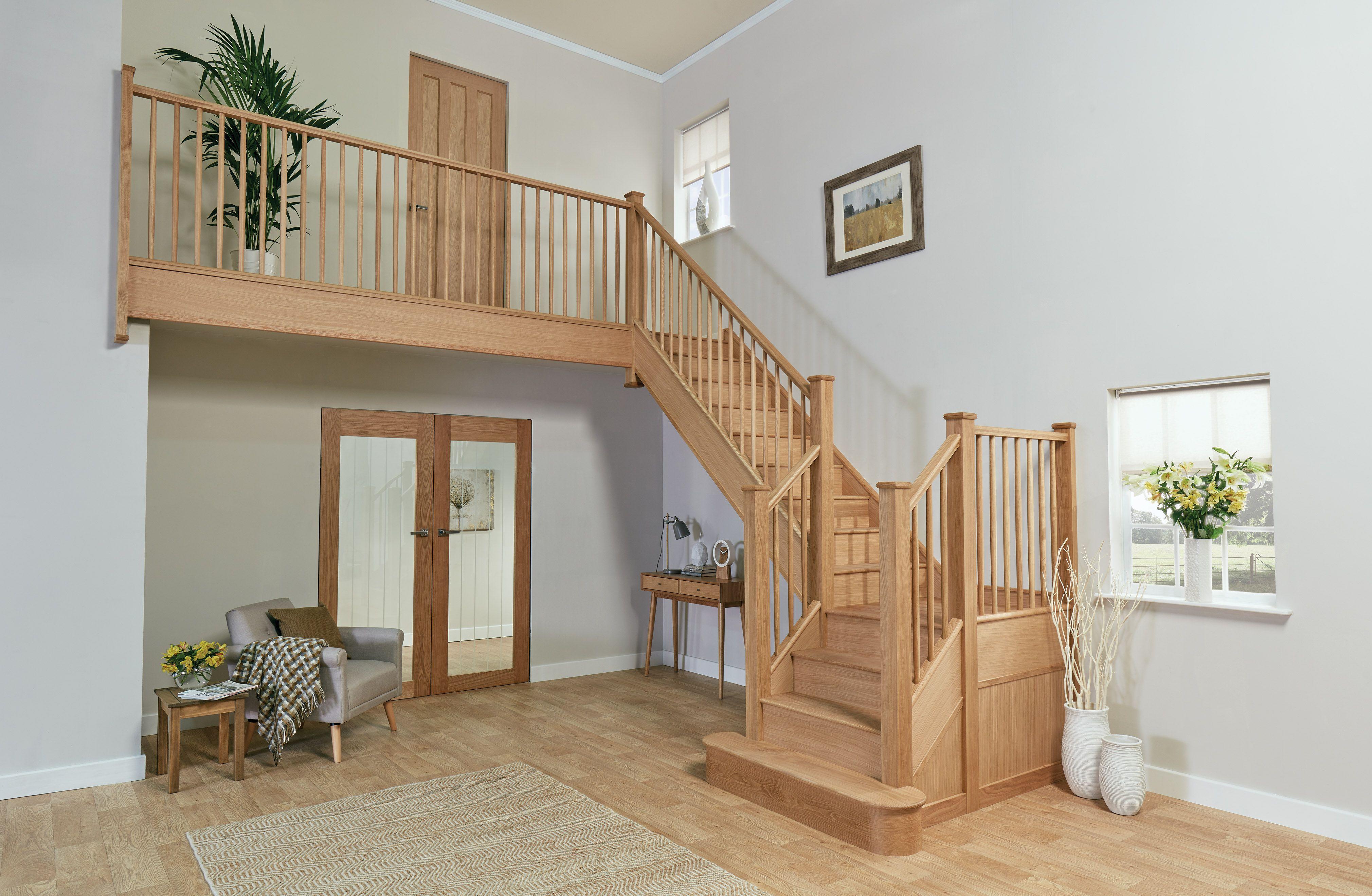 Slim Oak Spindle Staircase   Hallway designs, Home decor ...