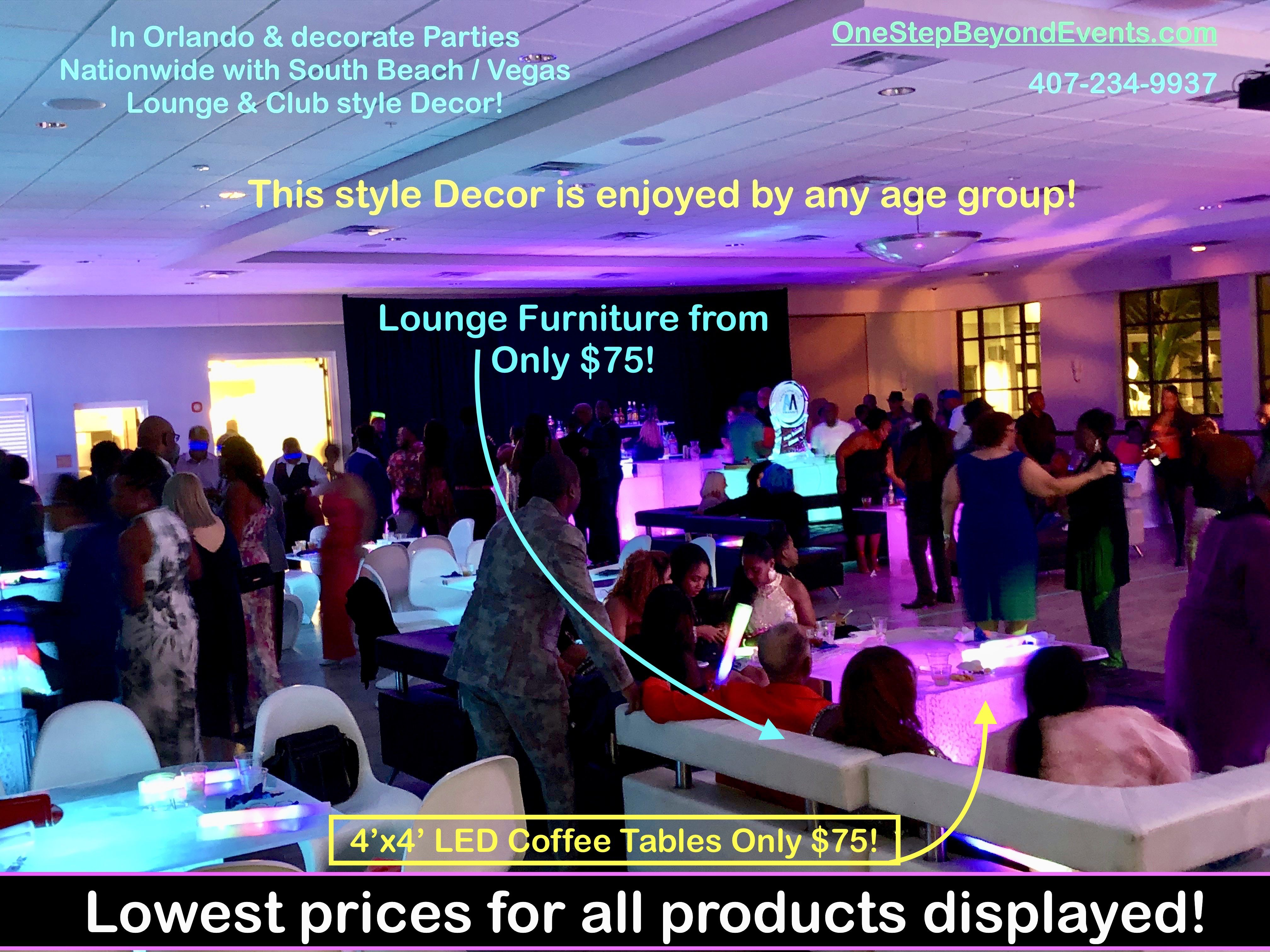 Light Up Glow Party Rentals Led Tables More In 2020 Party Rentals Event Rental Outdoor Wedding Lighting