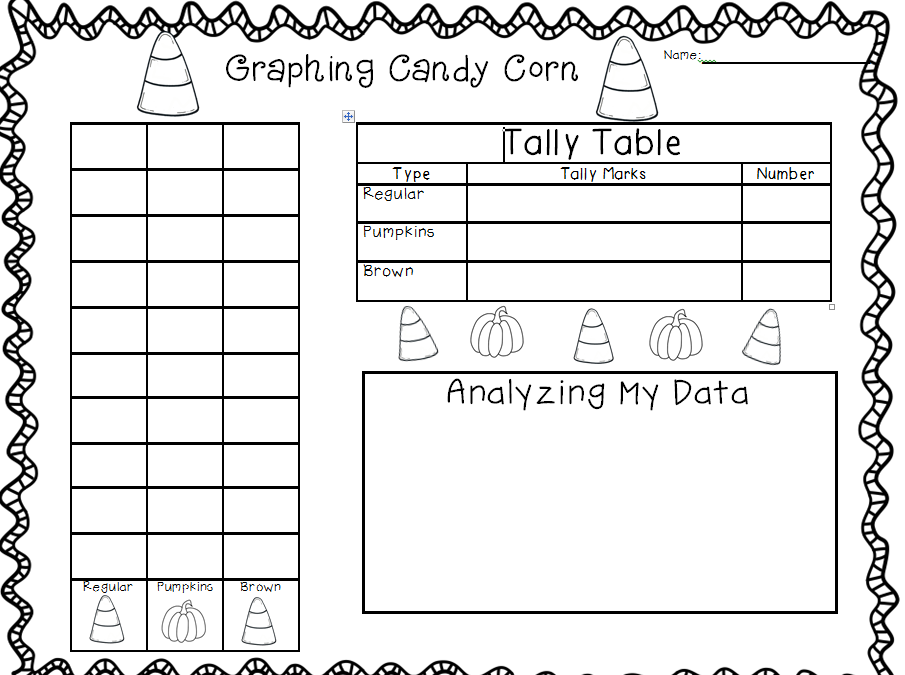 Printable Worksheets tally mark worksheets for first grade : First Grade Pizzazz: graphing candy corn using the autumn harvest ...
