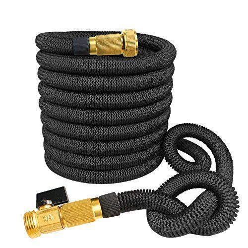NEW Expandable Garden Hose Water Pipe Black Reel Flexible Strongest Car  Wash 75f