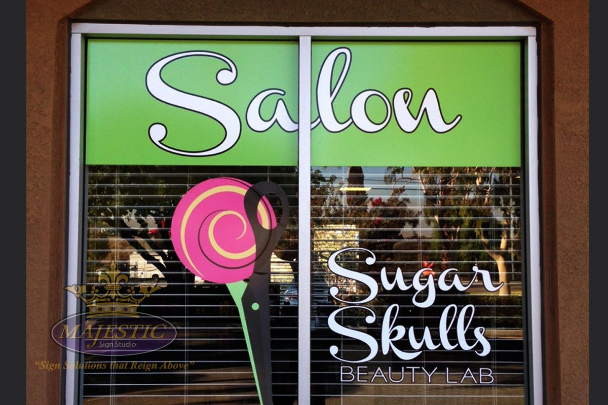 Creative window graphics make your business stand out window