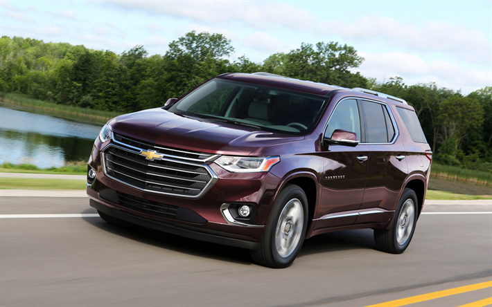 Download wallpapers Chevrolet Traverse, 2018, SUV