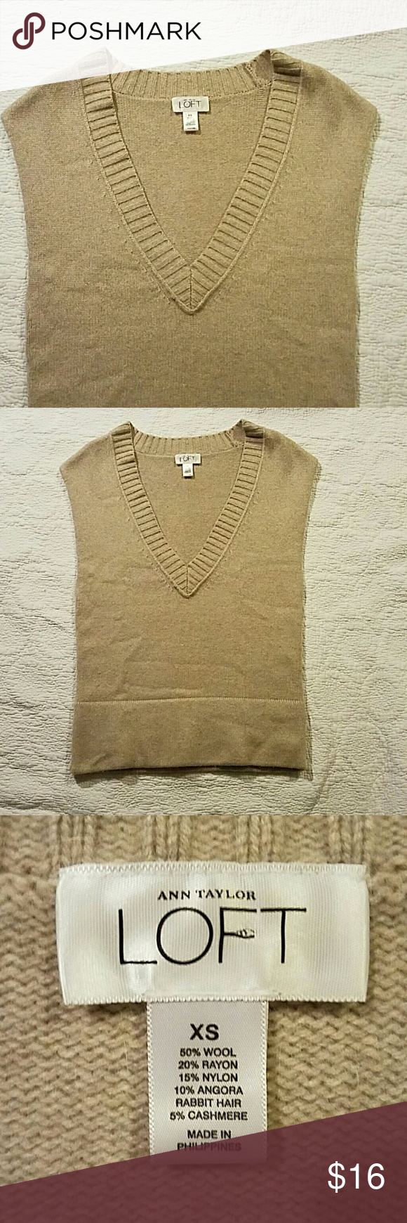 Ann Taylor Loft sleeveless sweater Super soft. Excellent condition LOFT Sweaters V-Necks