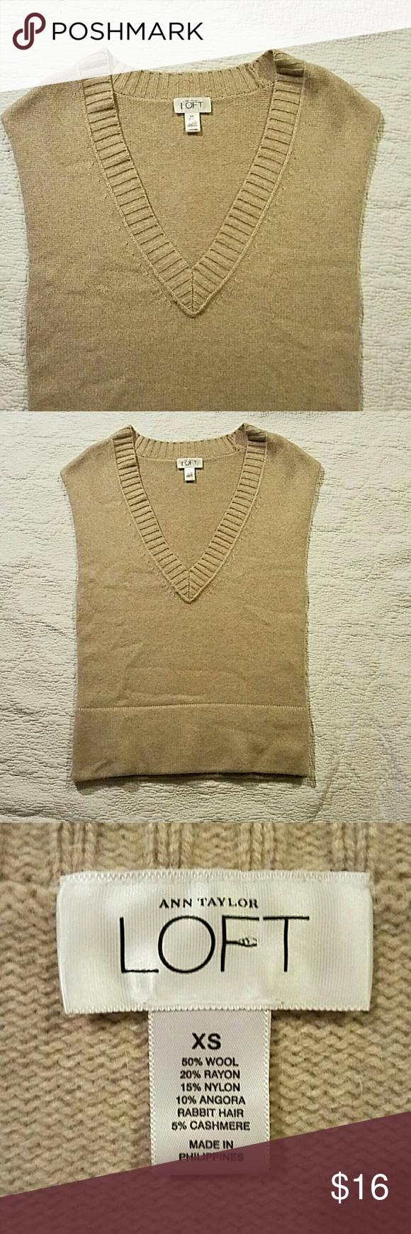 Ann Taylor Loft sleeveless sweater Super soft. Excellent condition LOFT Sweaters V-Necks