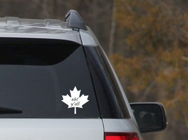 Canadian Eh Yall Car Decal Maple Leaf Car Sticker Car Vinyl - Vinyl decal stickers canada