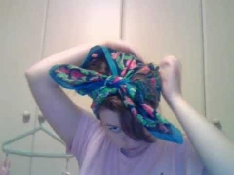 how to tie 1940s headscarf