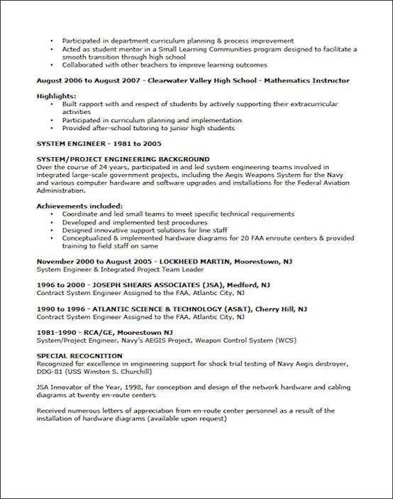 Sample teacher resume for Jim McCue resume examples in 2018 - high school graduate resume examples