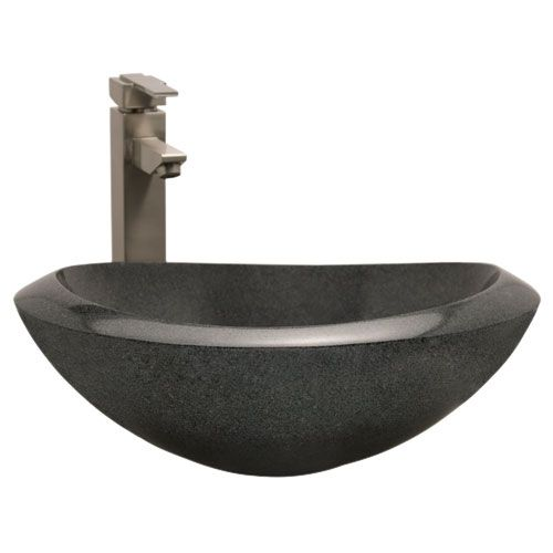 281 95 Item Curved Blue Granite Vessel Sink Sink Signature
