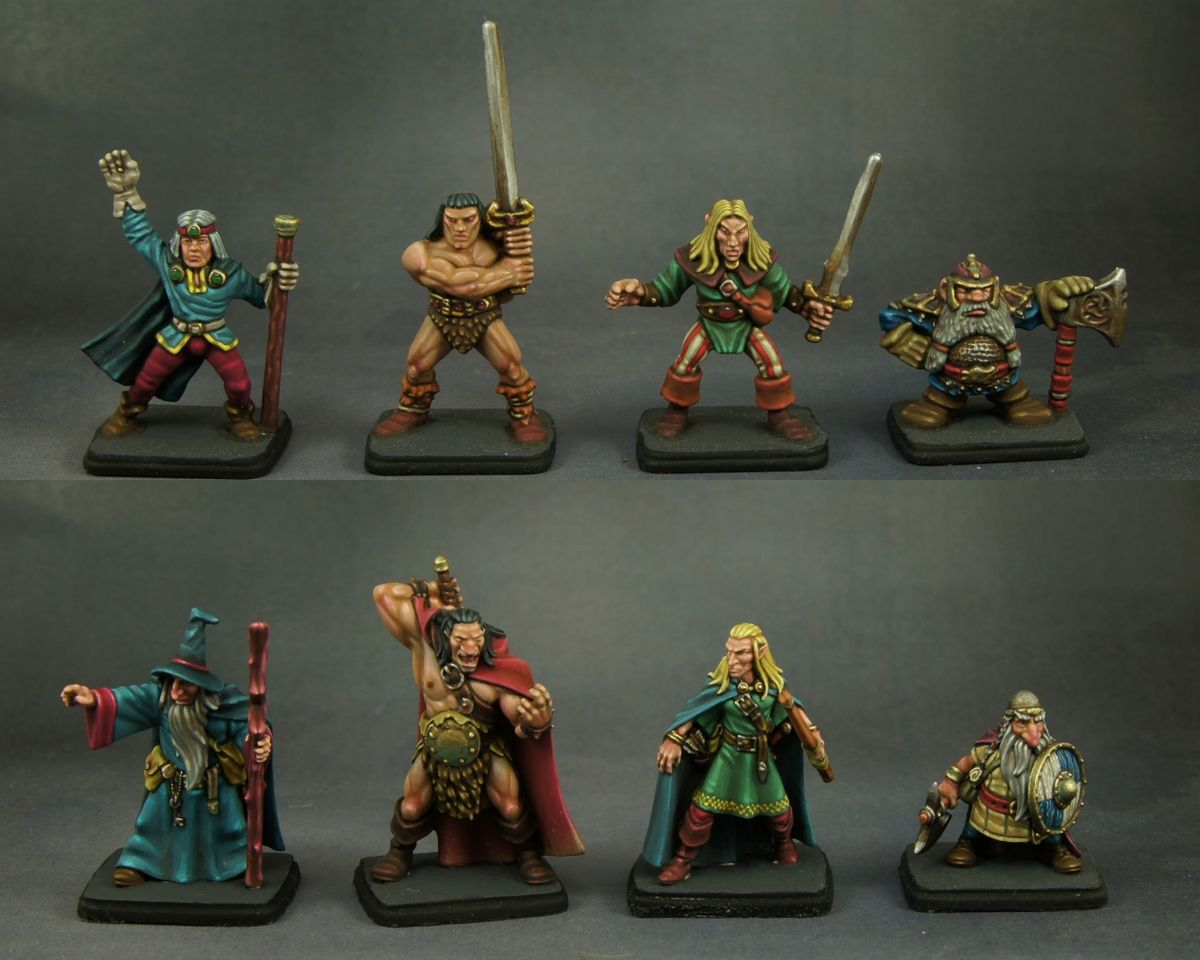 Warhammer Quest miniatures unpainted /& Painted