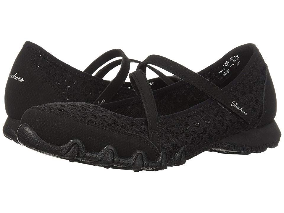 SKECHERS Relaxed Fit: Bikers Provocative (Black) Women's