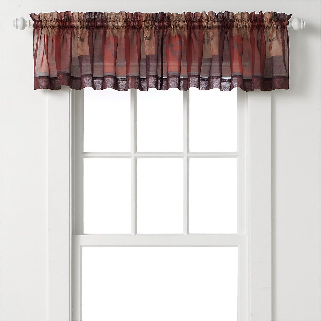 Eden tier valance products and valances
