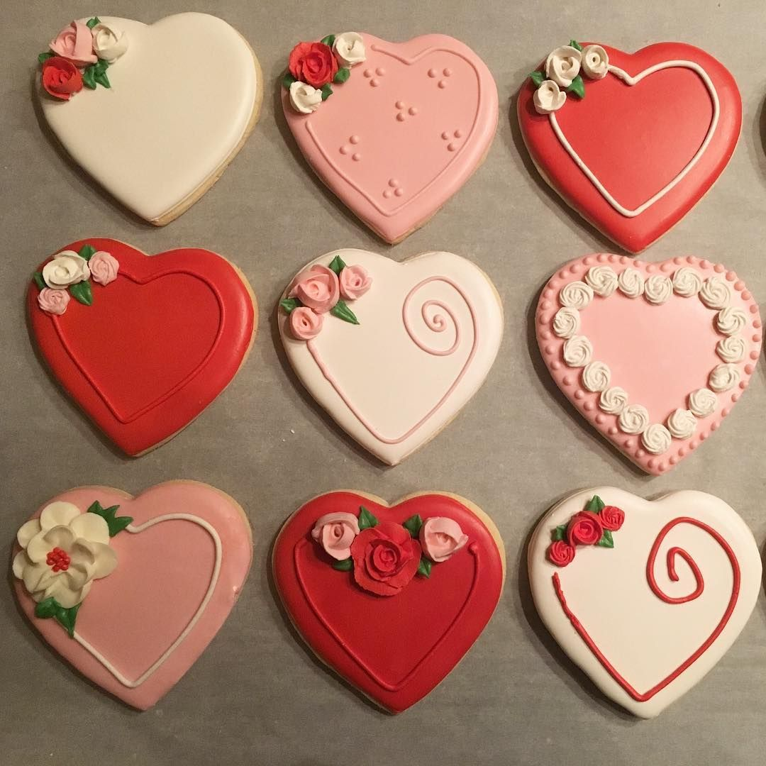 Sweetseptemberbakes On Instagram My Favorite Valentines Cookies From 2018 Valen Valentine Cookies Valentine Cookies Decorated Valentine S Day Sugar Cookies