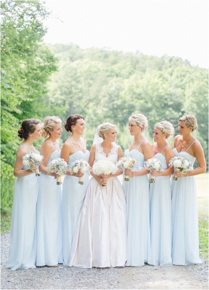 Baby Blue And White Bridesmaids Click To View More