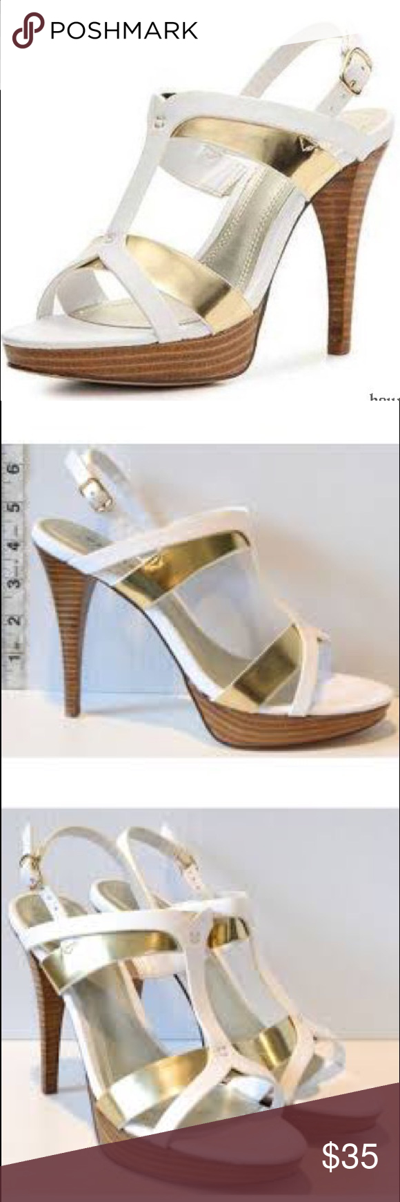 3dbfee792342 Chilis Ohanna Platform Sandal In White Gold Brand New. Great Holiday Shoe!