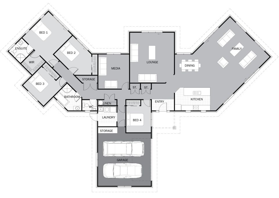 Boomerang shaped house plans home design and style for V shaped house