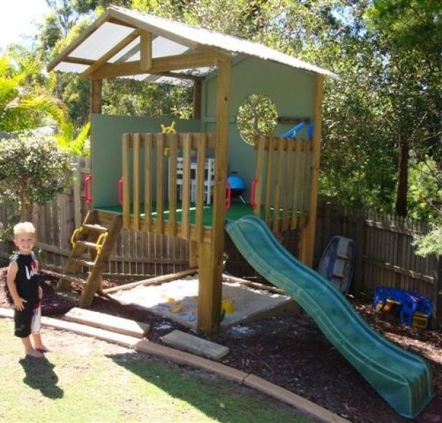 Cubby Houses Cubbies House Fort Backyard kids play Pinterest